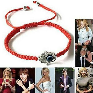 X1-Good-Luck-Kabbalah-BRACELET-Hamsa-Hand-of-GOD-Evil-Eye-Adjustable-Red-String
