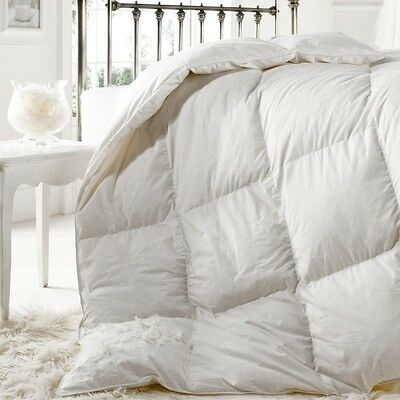 """25% DOWN"" 15 Tog DOUBLE Goose Feather WINTER WARM Duvet Quilt Bedding"