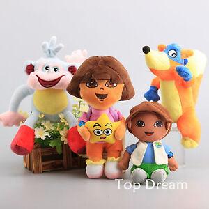 4X-Dora-The-Explorer-Diego-Swiper-Fox-Boots-The-Monkey-Plush-Toy-Soft-Doll-Gift