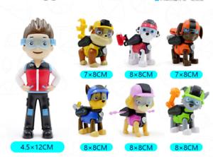 Neu Set of 7 Paw Patrol Pup Deluxe Spiel Figuren Spielfiguren Spielzeug DE