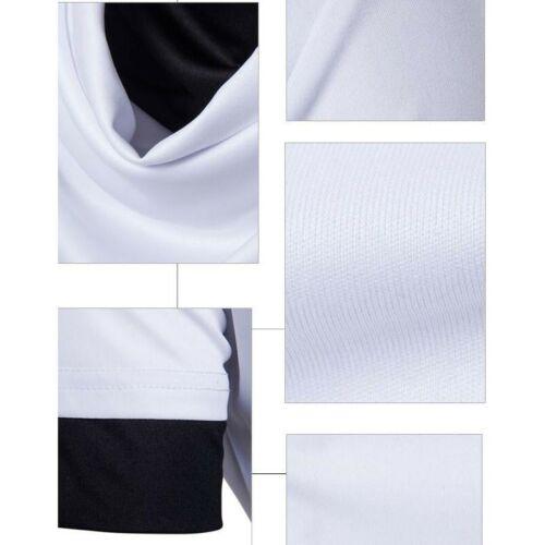 Men/'s Short Sleeve Basic Tees Plain Heaps Collar T-Shirt Tops Summer Occident D