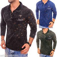 ZAHIDA Men's Long-sleeved Shirt Sweatshirt Hoodie Long Sleeve STARS T-Shirt Polo