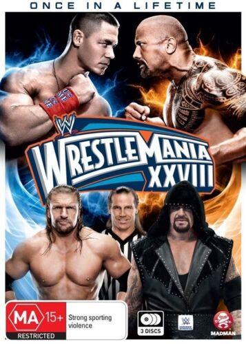 1 of 1 - WWE - Wrestle Mania XXVIII (DVD, 2016, 3-Disc Set)