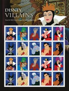 20 USPS STAMPS 2017 DISNEY VILLAINS Forever Postage Stamps 1 Booklet