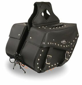 Large Throw Over Waterproof Saddle Bag for Harley, Honda Series Bikes w/ Studs