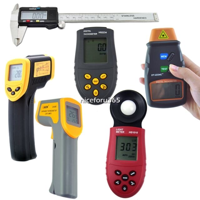 High Quality Digital Caliper/Luxmeter Photometer/Tachometer/Thermometer Hot N4U8