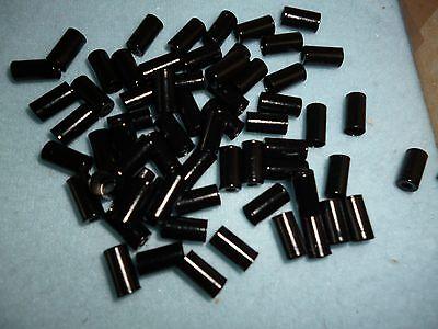 (0,40 € Stück) 10  Endkappen schwarz für 4 mm Außenhülle