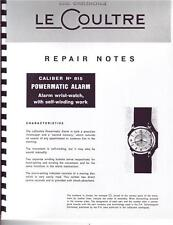 Jaeger Lecoultre 815 Wrist Alarm Repair Manual With But It Now Feature