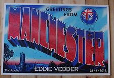EDDIE VEDDER - Manchester 2012 Poster JEFF SOTO S/N *RAR* Pearl Jam