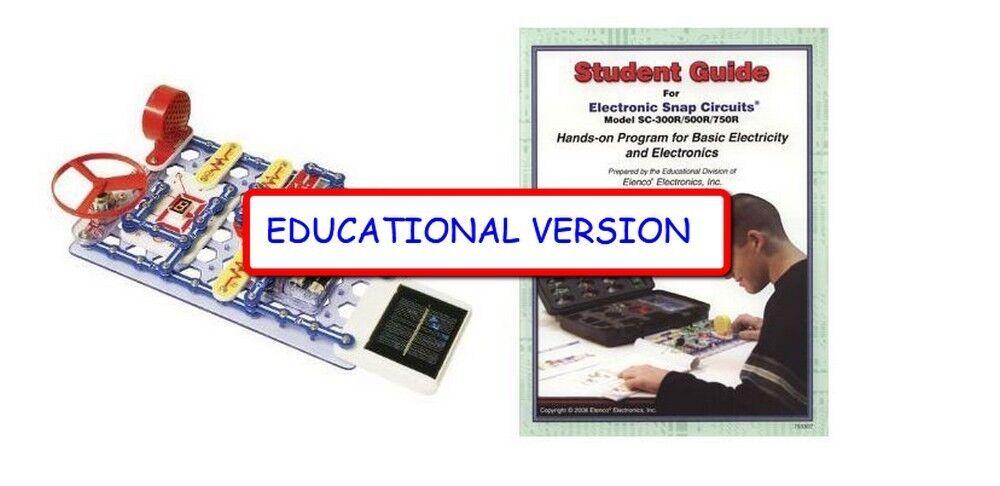 Snap Circuits SC-750EDU EDUCATIONAL MID-HI SCH VERSION  SC- 750 & STUDENT GUIDE