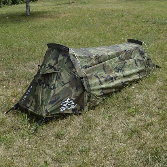 Bivouac Tent Kaiten 1 Person Woodle Camo Tent Waterproof Wide Screening