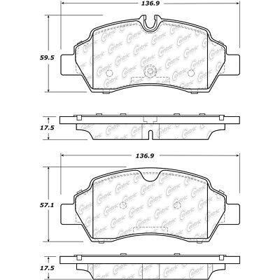 Disc Brake Pad Set Rear Centric 300.17750 fits 15-17 Ford Transit-350