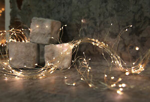 Micro-LED-Buendel-Lichterkette-Draht-warmweiss-Leuchtdraht-Batterie-Timer-Deko