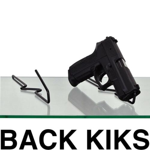 Gun Storage Solutions Back Kikstands- 10 Pack (Attaches to Glass Shelves)