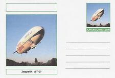CINDERELLA - 3973 -AIRSHIPS - ZEPPELIN NT-07  on Fantasy Postal Stationery card