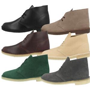 Details zu Clarks Desert Boot Men Schuhe Herren Leder Freizeit Boots Stiefel Schnürschuhe