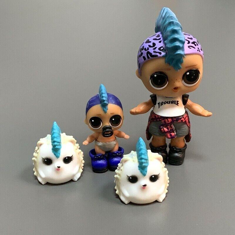 Lot 4Pcs LOL SURPRISE DOLLS PUNK BOI BOY with lil and pets boy toys gift