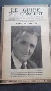 Revista Le Guía de La Concierto Y Las Sketches Letra 1951 N º 7 M. Facchinetti