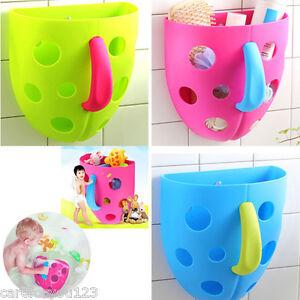 toddler baby bath toy organizer storage bathroom bag kids net super scoop tub ebay. Black Bedroom Furniture Sets. Home Design Ideas