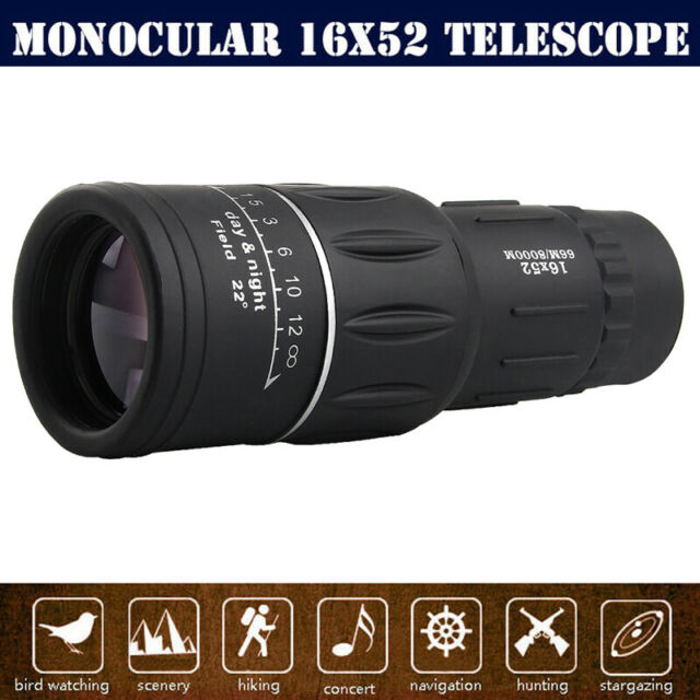 Pocket Handheld 16X52 Monocular FMC Telescope for Outdoor Hiking Camping Outdoor