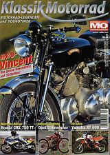 Klassik Motorrad 1/04 2004 H.R.D. Vincent Kawasaki GPZ900R Yamaha XT600 Moriwaki