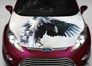 Eagle Full Color Graphics Adhesive Vinyl Sticker Fit Any Car Hood - Vinyl stickers designabstract full color graphics adhesive vinyl sticker fit any car