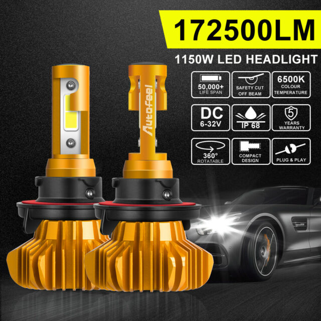 H13 9008 1150W 172500LM LED Headlight Kit Bulb HIGH LOW Beam Replace Halogen HID