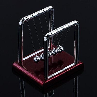 1X Newton's Cradle Steel Balance Ball Physics Science Pendulum Desk Fun Toy Gift