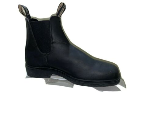 Blundstone Mens Black Leather V Cut Boot Size 9.5