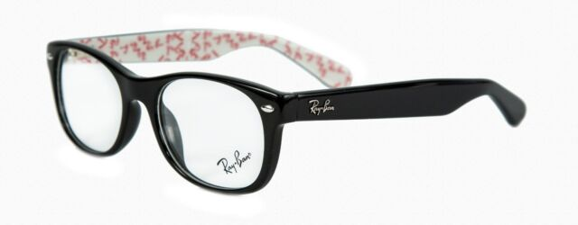 RAY BAN RB 5184 RB5184 2457 Black Red White Eyeglass Frame Eyewear 52-18-145