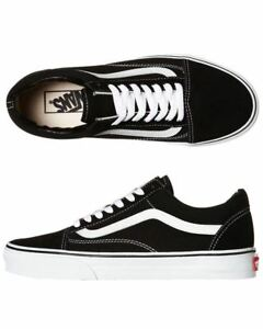 Vans-Shoes-Old-Skool-Black-White-USA-SIZE-Old-School-NEW-Skateboard-Sneakers