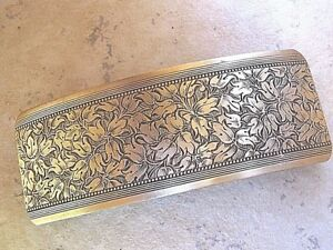 Large-Antiqued-Brass-Barrette-for-Thick-Hair-Genuine-French-Clip-NEW-USA-6018