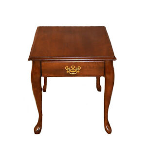 Solid Cherry Queen Anne Side Table