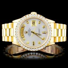 Rolex 18K YG Presidential 2.00ct Diamond Wristwatc Lot 479