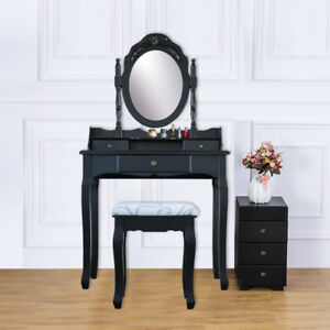 Image Is Loading 3 Drawer Vanity Table Set Dressing Table With