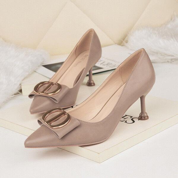 Schuhe decolte eleganti stiletto 6 cm grigio lucido comodi pelle simil pelle comodi 1565 97c5ab