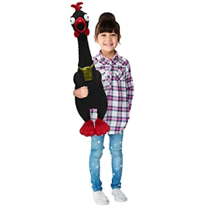 Huge Screaming Rubber Chicken Toy for Kids Animolds Hug Me Giant Rubber Chicken