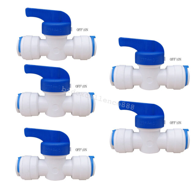 Malida L-Type Male Thread 1//2-1//4 Water Filter Quick Connect Fitting for RO Pack of 5