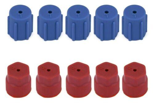 16mm High Low Side Caps Red Blue 10Pcs AC Charging Port Service Cap R134a 13mm