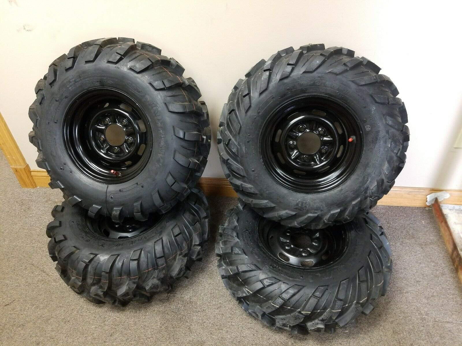 Conjunto de 4 Ejecutar Flat 26X11.00-12 - 26X9.00-12 John Deere Gator Wheels & Tires