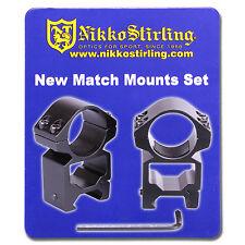 "Nikko Rifle Scope MOUNTS 2 Piece 1"" Tube HIGH Weaver Picatinny RIS Rail Rings"