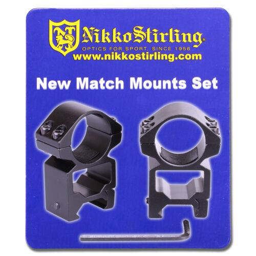 "Nikko Rifle Scope MOUNTS 2 Piece 1/"" Tube HIGH Weaver Picatinny RIS Rail Rings"