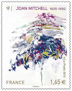 TIMBRE-4849-NEUF-XX-LUXE-PEINTURE-DE-JOAN-MITCHEL-DE-1992