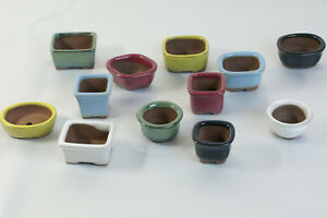 Mame Bonsai Pot Seto Ware Made In Japan Choose From 12 Variations Ebay