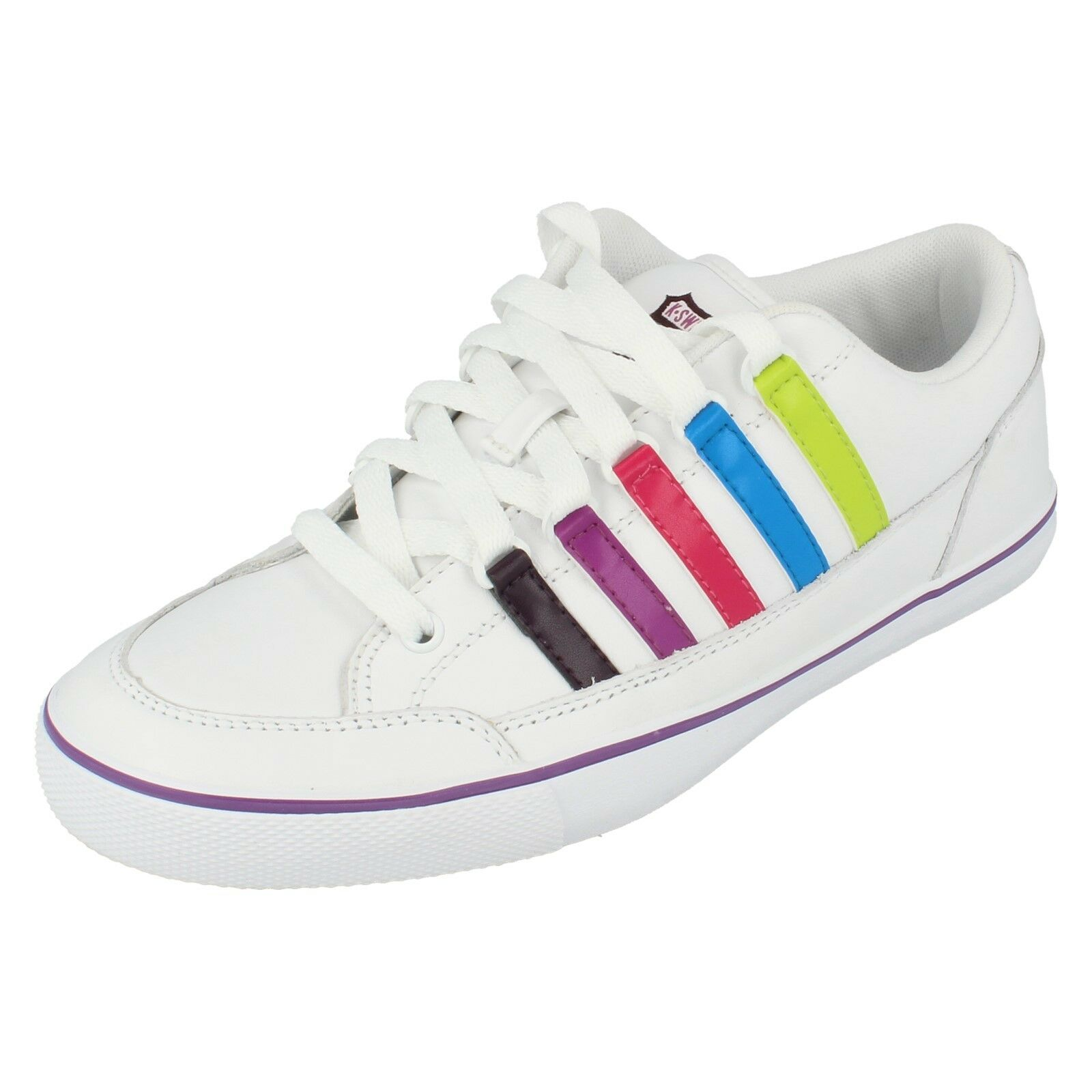 Ladies surf and sand white multi trainers by K swiss Retail price