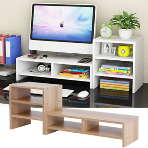 Genial 2 In 1 Computer Monitor Riser Desk Table