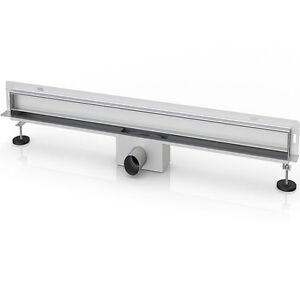 slim line wandablauf flach wandrinne duschrinne ablaufrinne wandmontage ht rohr. Black Bedroom Furniture Sets. Home Design Ideas