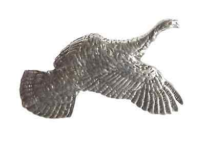 """EAGLE IN FLIGHT /""""Birds Animals Nature/"""" Hand Made in UK Pewter Lapel Pin Badge"""