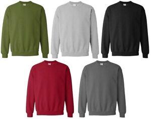 Plain-Jumper-Sweatshirt-Top-Mens-Work-Wear-Classic-Casual-Pullover-Top-S-XXL