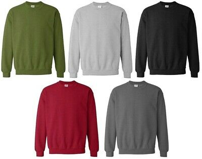 Plain Jumper Sweatshirt Top Mens Work Wear Classic Casual Pullover Top S-XXL HNL